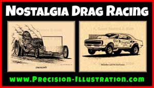 K Scott Teeters Nostalgia Drag Racing Art