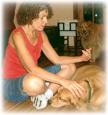 Dr Liz Severino and Dog friend