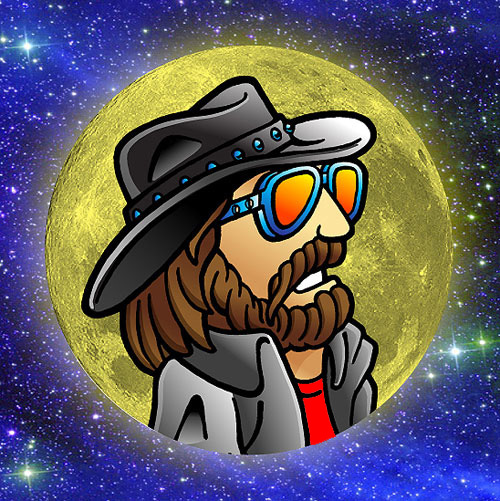 Far Out Dude in the MoonMoon-Dude-Space-BK-72
